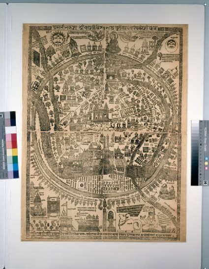 Pilgrim map of Varanasi, or Benaresfront