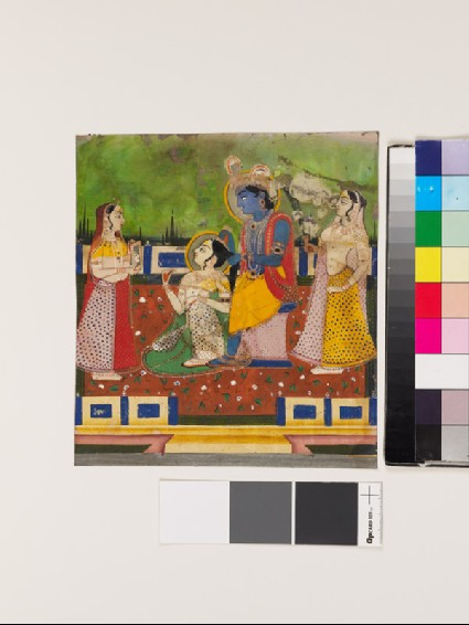 Radha and Krishna on a terracefront