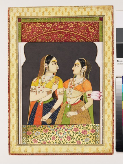 Two noblewomen at a windowfront