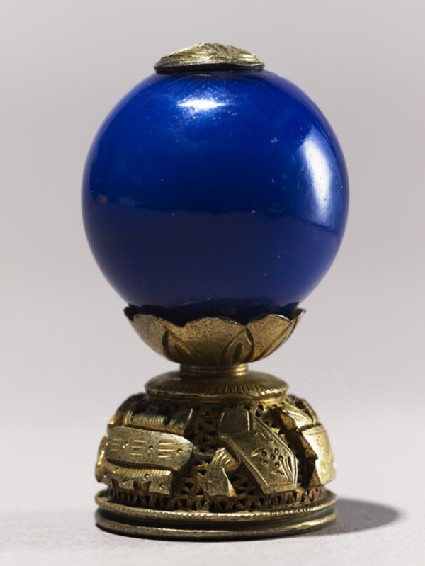 Mandarin hat finial used to indicate the wearer's rankside