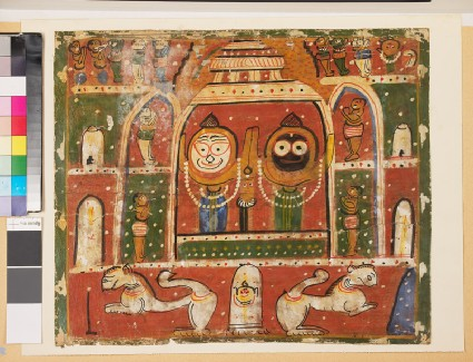 The Jagannatha Trio in the shrine at Purifront