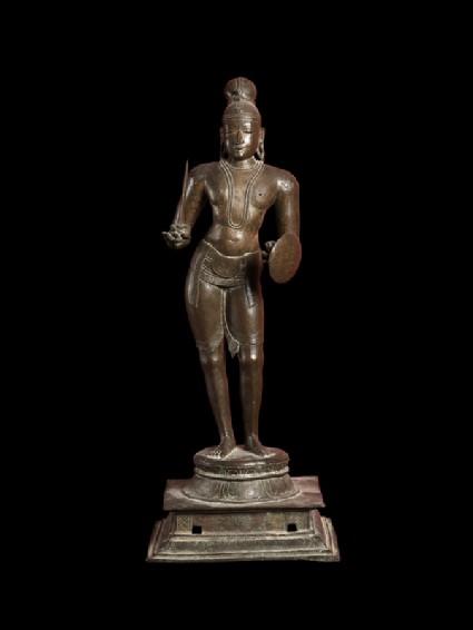 Figure of the saint Tirumankai Alvarfront