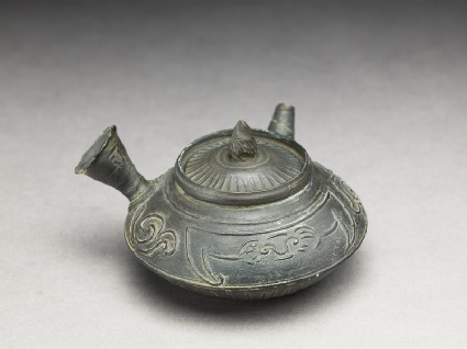 Teapot used for the Chinese tea ceremonyoblique