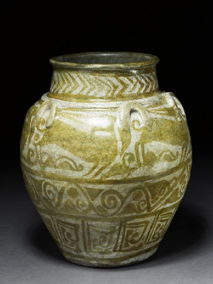 Jar with animal friezeoblique