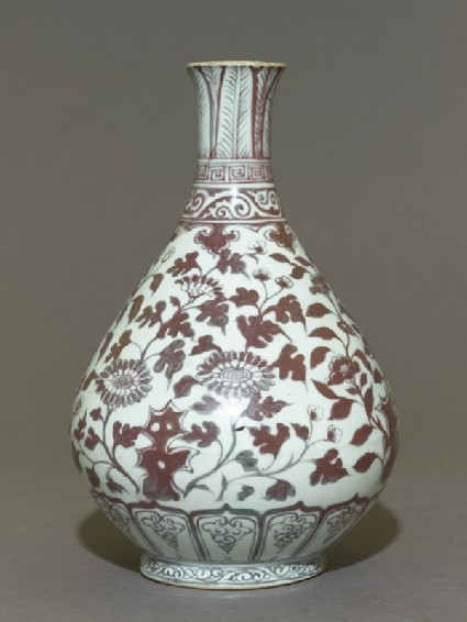Vase with floral decorationside
