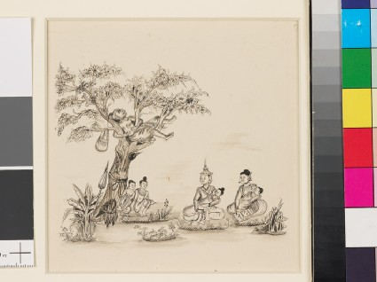 Scene from the Vessantara Jatakafront