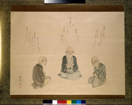 Three old men thinking about deathdetail