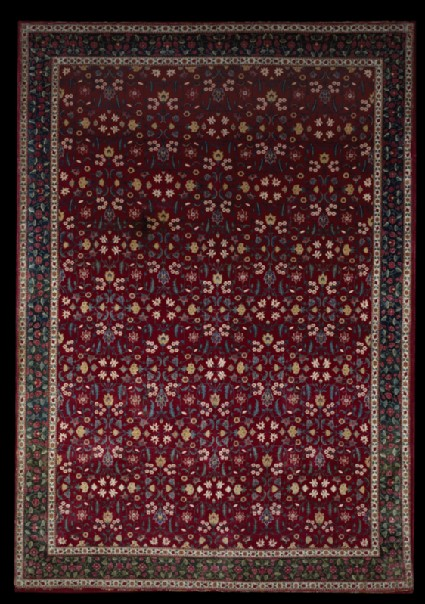 Mughal carpet with floral patternfront