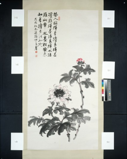 Red Flowersfront, painting only