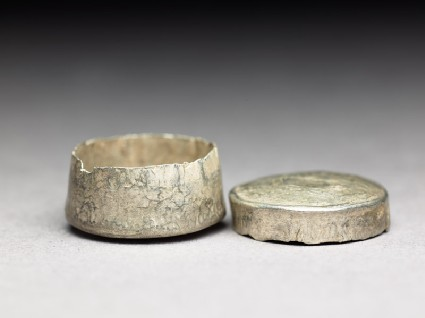 Lidded relic-box from a reliquaryoblique, open