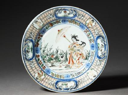 Plate with 'Parasol Lady' designtop