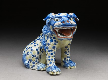Figure of a shishi, or lion dogside