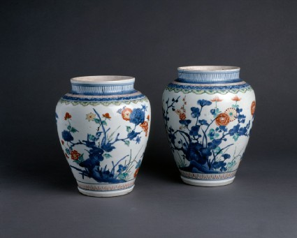 Baluster jar with floral decorationgroup