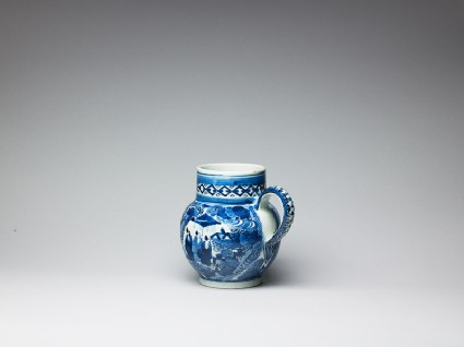 Tankard with grouped figures in a landscapeoblique