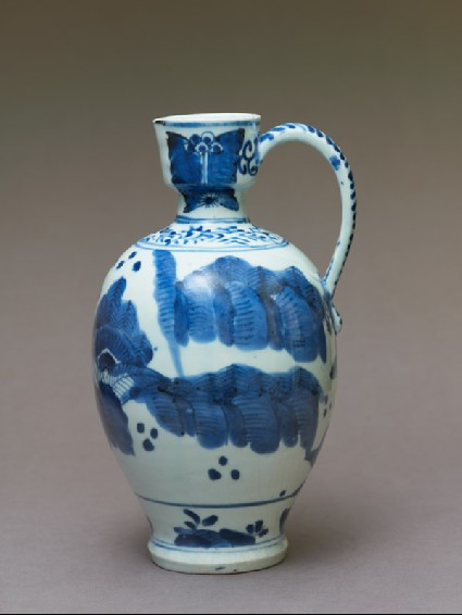 Jug with figures in a landscapeside