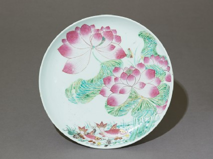 Plate with lotuses and fishtop