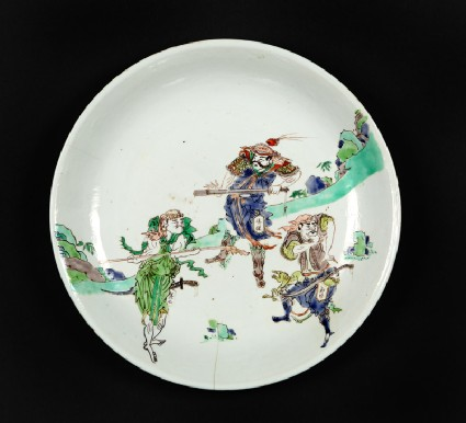Dish with figures from The Water Marginfront
