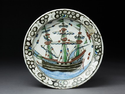 Dish with a European shiptop