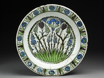 Dish with tulips and hyacinthstop