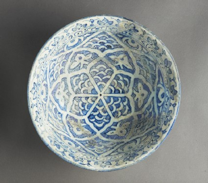 Bowl with geometric and floral and epigraphic decorationtop