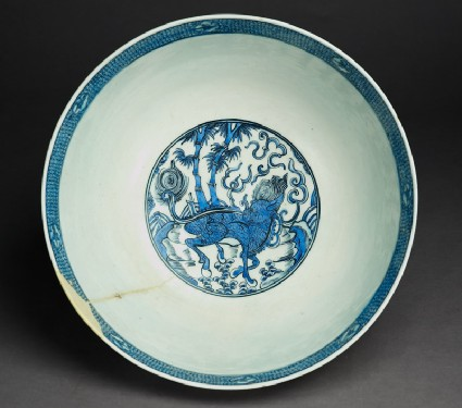 Bowl with qilin, or horned creaturetop