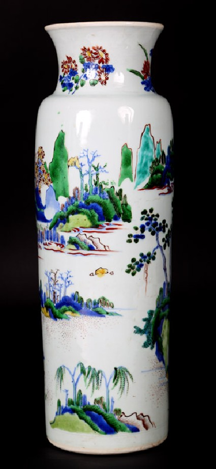 Vase with figures in a landscapefront