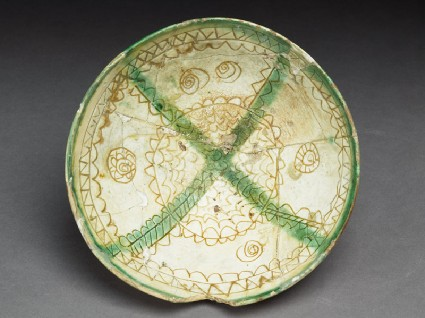 Bowl with medallions, rays, and lozengestop