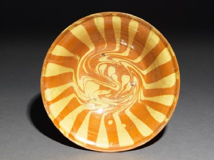 Bowl with marbled decorationtop