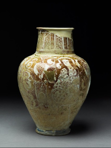 Jar with female figuresside