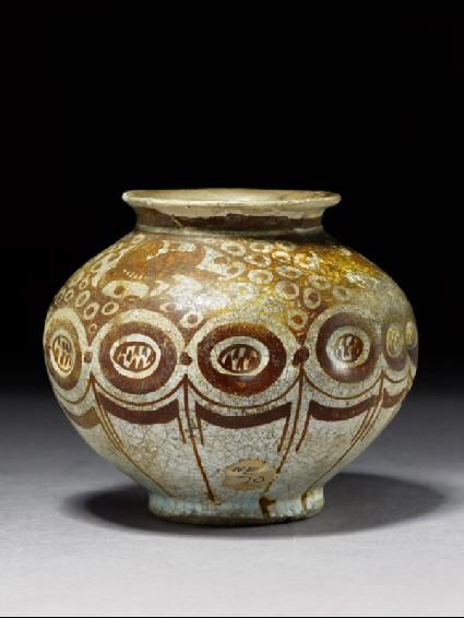 Jar with birdsside