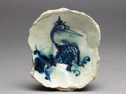 Base fragment of a bowl with birdtop