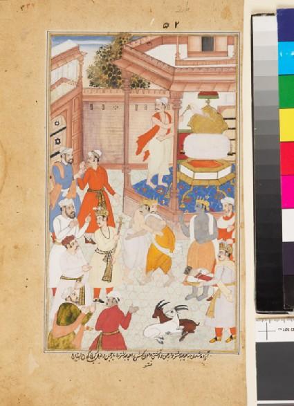 Krishna reconciles Yudhisthira and Arjunafront