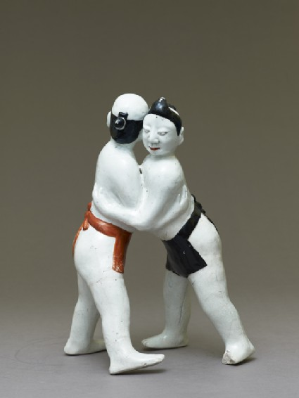 Figure of two sumo wrestlersoblique