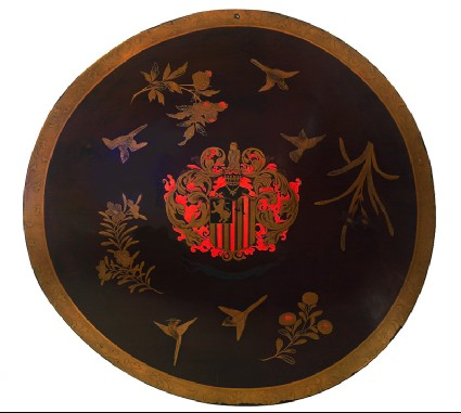 Shield with the armorial bearings of Constantijn Ranstfront