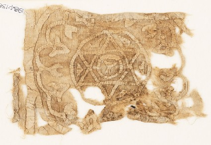 Textile fragment with roundel, star, and chalicefront