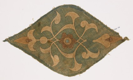 Textile fragment with medallionfront