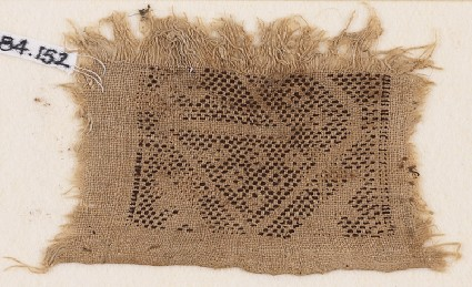 Textile fragment with rectangle and diamond-shapesfront