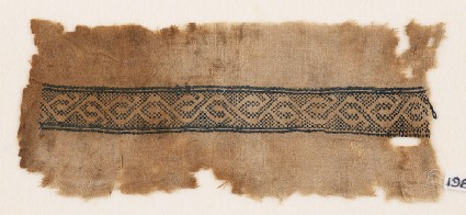 Textile fragment with stylized vinefront