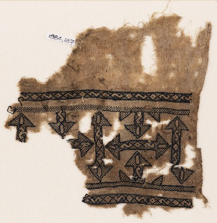 Textile fragment with arrowsfront