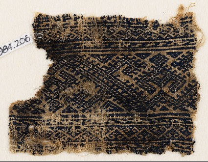 Textile fragment with linked hooksfront