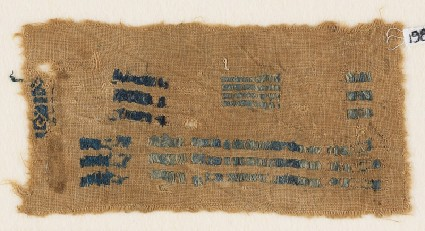 Textile fragment with lines and hooksfront