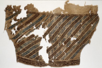 Textile fragment from a trouser legfront
