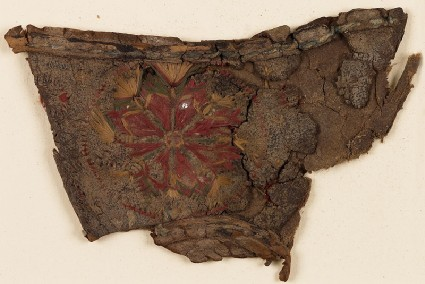 Textile fragment with rosette, possibly from a slipperfront