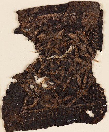 Textile fragment with rosettes and starsfront