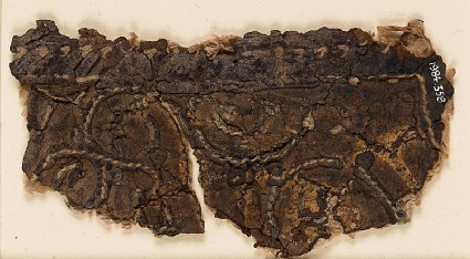 Textile fragment with tendrils and palmettefront