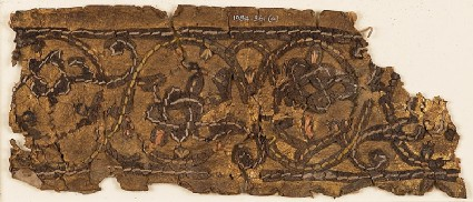 Leather fragment with interlace, possibly from a book coverfront