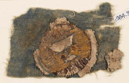 Textile fragment with blazonfront