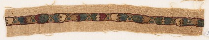 Textile fragment with chalices and crosses, possibly from a vestmentfront