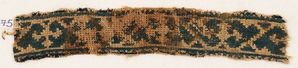 Textile fragment with band of vines and trefoilsfront
