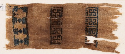 Textile fragment with swastikas and starsfront